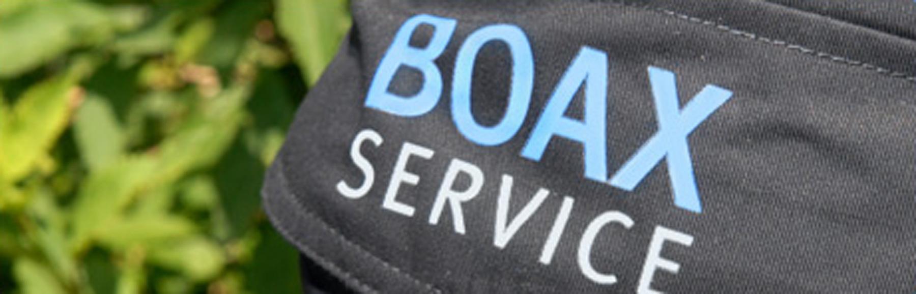 Boax logo på byxben